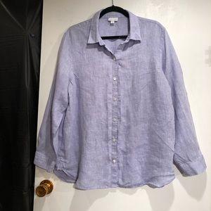 J. Jill Love Linen Long Sleeve Shirt.